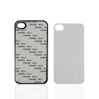 Чехол для IPhone 4 пластик черный со вставкой стандарт