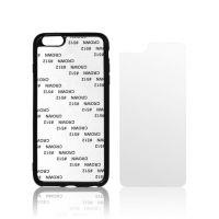 Чехол для IPhone 6+ силикон чёрный с гибкой матовой вставкой премиум