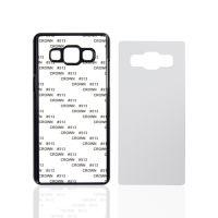 Чехол для Samsung A5, пластик черный со вставкой стандарт