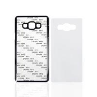 Чехол для Samsung A7, пластик черный со вставкой стандарт
