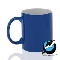 Кружка керамика хамелеон синяя повышенное качество 330мл