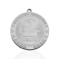 Медаль корпусная MK182 серебро D медали 45мм второе место