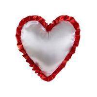 """Подушка """"Сердце"""", атлас, с наволочкой в комплекте"""