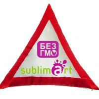 Подушка в форме треугольника, полисатин, 400х400 мм