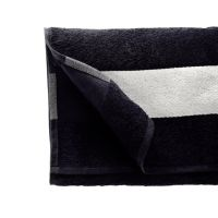 Полотенце махровое 50*90 см, 350 г/м2, хлопок, с 1 полем под сублимацию, черный (902)