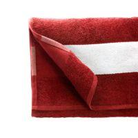 Полотенце махровое 50*90 см, 350 г/м2, хлопок, с 1 полем под сублимацию, красный (227)