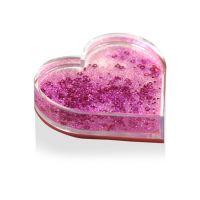Рамка сердце водяная с разноцветными хлопьями 97х95х23мм