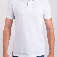 Рубашка поло Premium, мужская, белая, хлопок, 44 (XS)