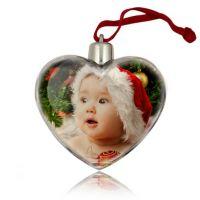 Шар-сердце прозрачный под вставку 82х71х30мм