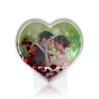 Шар водяной в форме сердца с хлопьями в виде сердечек в индивид упаковке 105x95x45мм